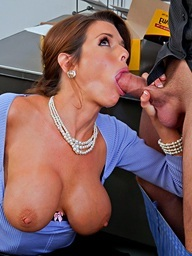 Horny boss, Veronica Avluv  takes care of business by..